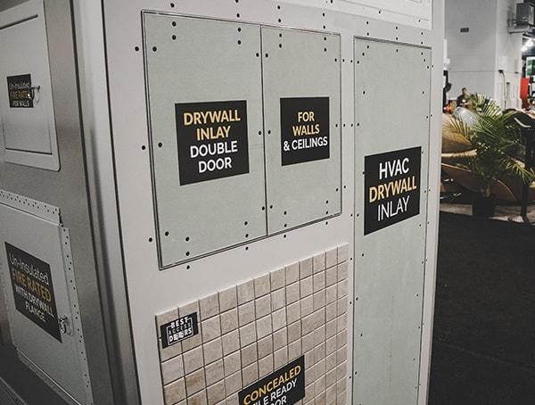 Drywall Inlay Double Door 2019 Nahb International Builders Show Panels