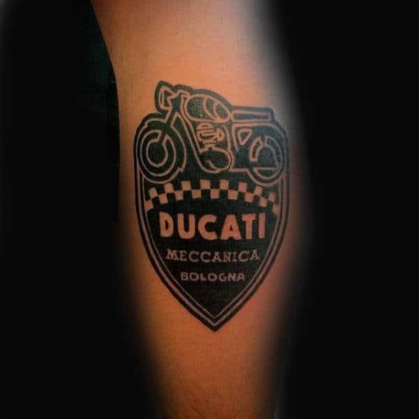 Ducati Symbol Biker Leg Calf Tattoos For Men