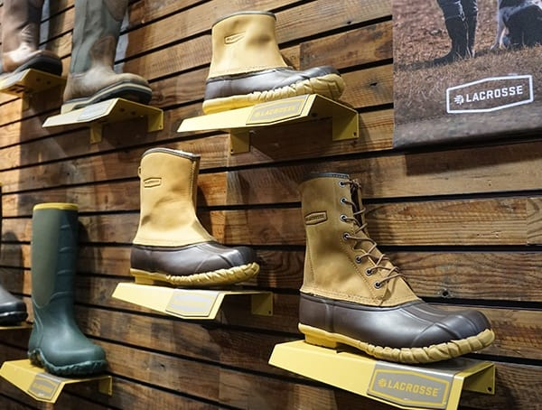 Duck Boot Lacrose Footwear Booth At Outdoor Retailer