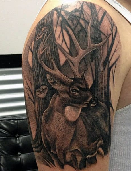 Duck Hunt Tattoo For Males On Arm