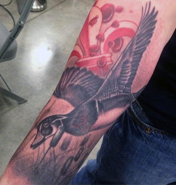 Duck Hunter Guy's Tattoos