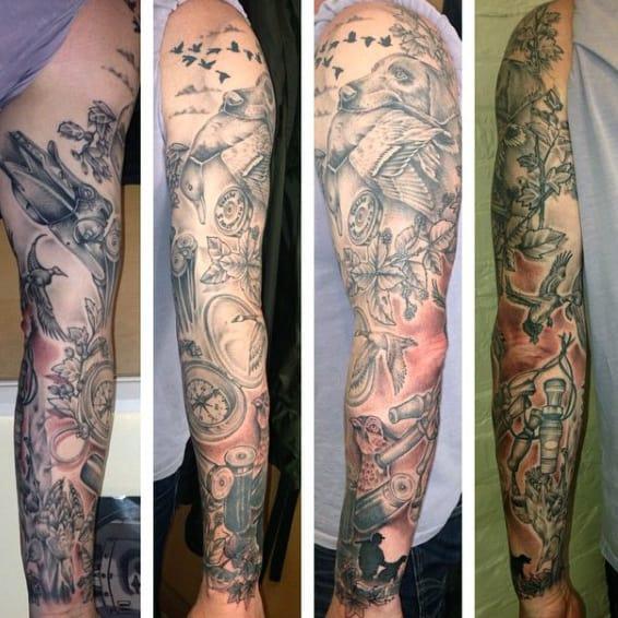 Duck Hunting Men's Tattoos Designs