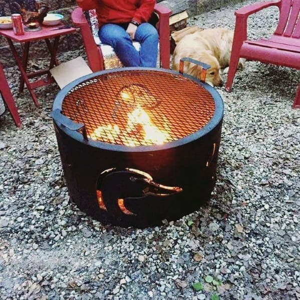 Duck Hunting Themed Backyard Ideas For Metal Fire Pits With Grate