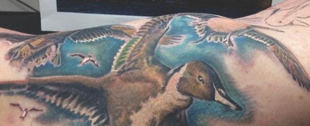 70 Duck Tattoos For Men Masculine Waterfowl Ink Designs