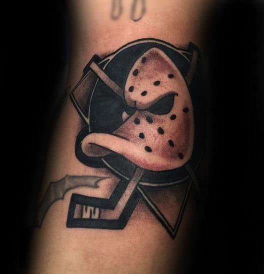 Ducks Hockey Mens Arm Tattoo