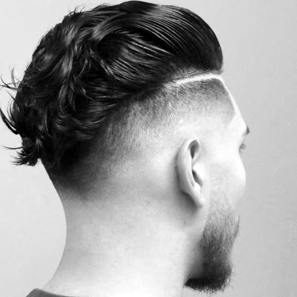 Ducktail Mens Skin Fade Haircut