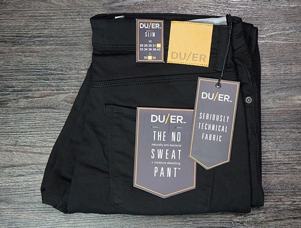 Duer Review No Sweat Pant Slim Black