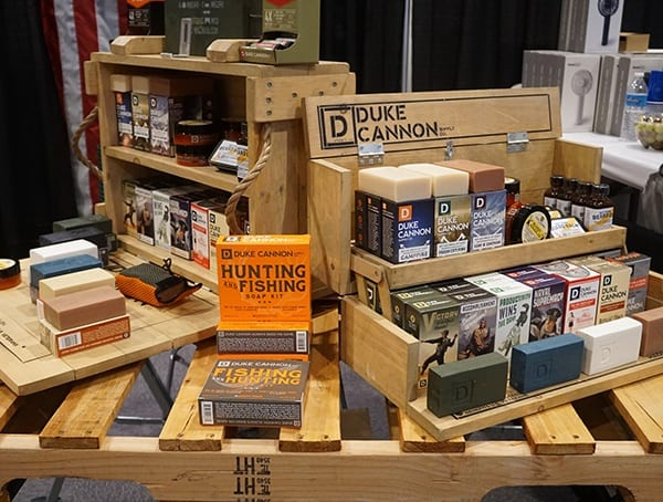 Duke Cannon Soaps Display Outdoor Retailer Summer Market 2018