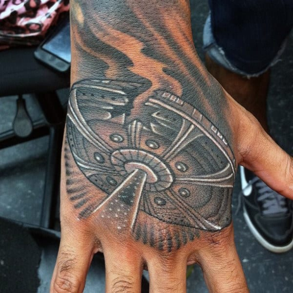 100 UFO Tattoo Designs For Men