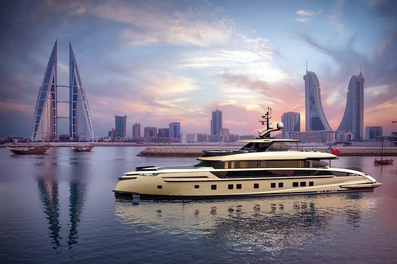 Dynamiq Launches New 135-Foot Golden Superyacht