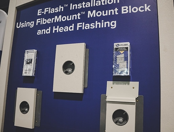 E Flash Fibermount Mount Block And Head Flashing 2019 Nahb Show Las Vegas