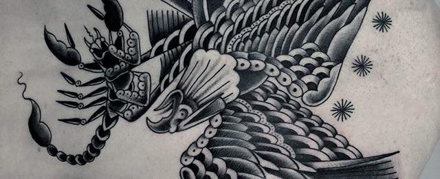 Eagle Back Tattoo Designs For Men