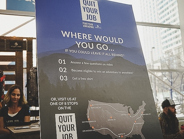 Eagle Creek Quit Your Job Campaign At Outdoor Retailer 2019