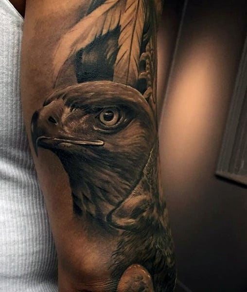 Eagle Feather Tattoos For Men On Arms
