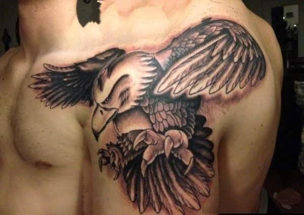 Eagle Shoulder Tattoo For Men