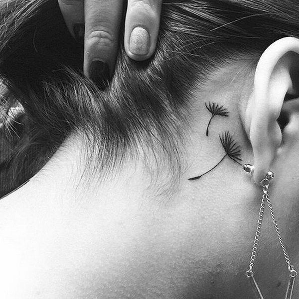 tattoos for women small, small tattoos on neck, on the ear tattoo