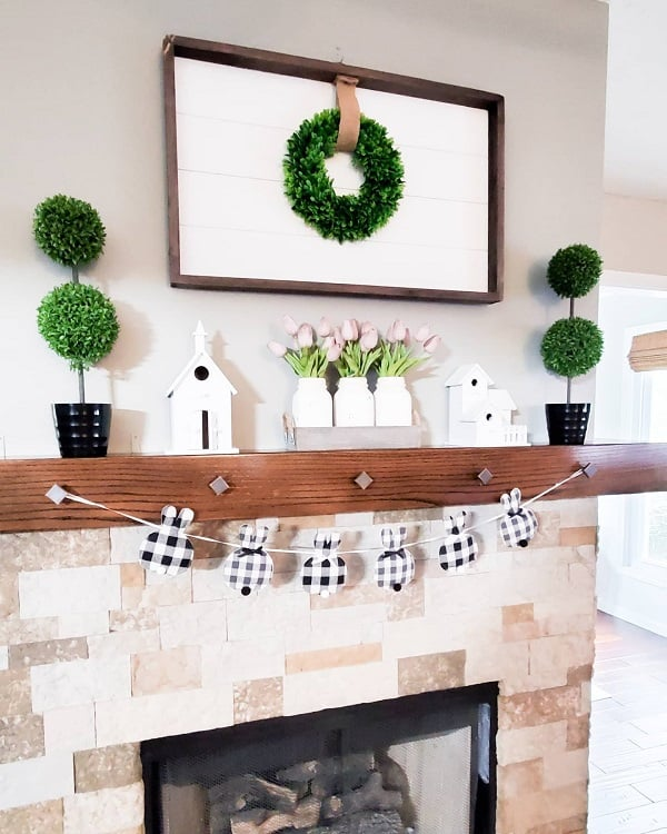 Easter Fireplace Mantel Decor Ideas Cammiscountry