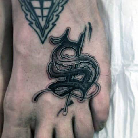 Eastern Symbol Tattoos On Foot For Males