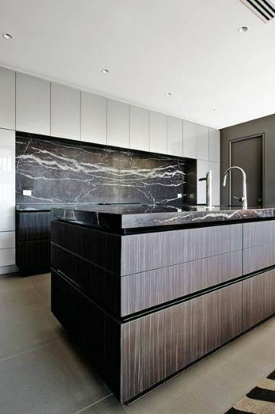 Ebony Wood Kitchen Cabinets Modern Designs