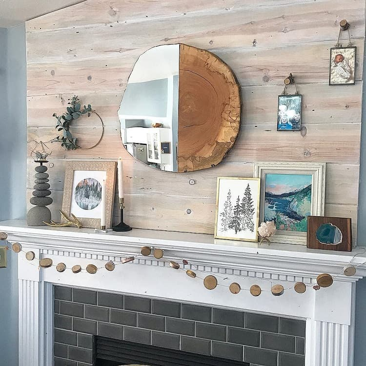Eclectic Home Mantel Decor Thehousethatdiybuilt
