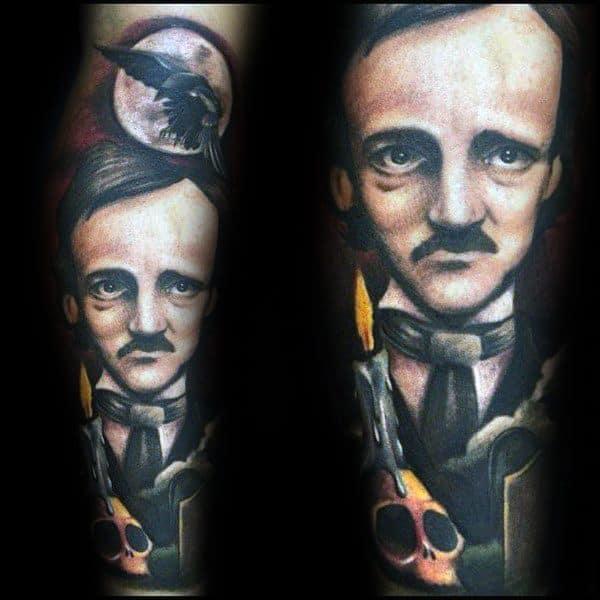 Edgar Allan Poe Guys Tattoo Designs