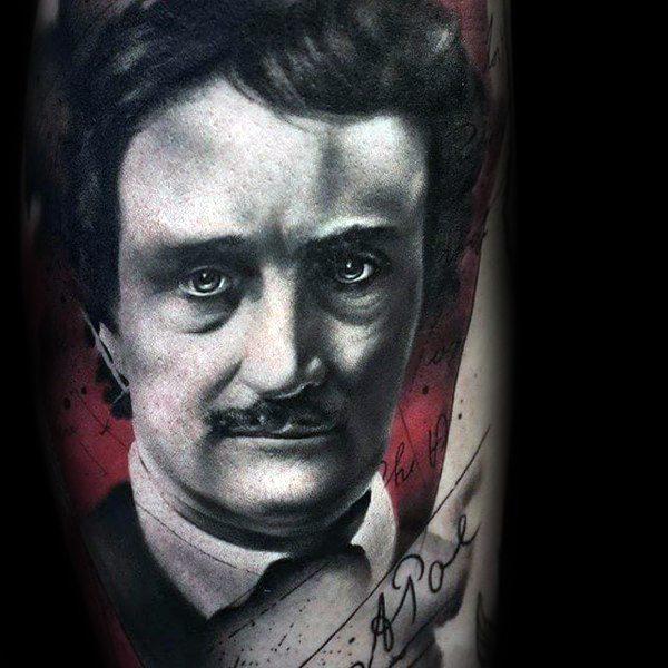 Edgar Allan Poe Male Tattoos