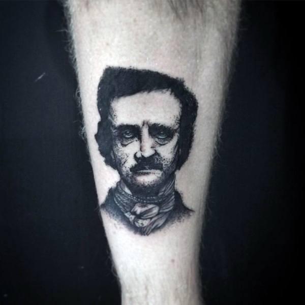 Edgar Allan Poe Tattoo Design Ideas For Men