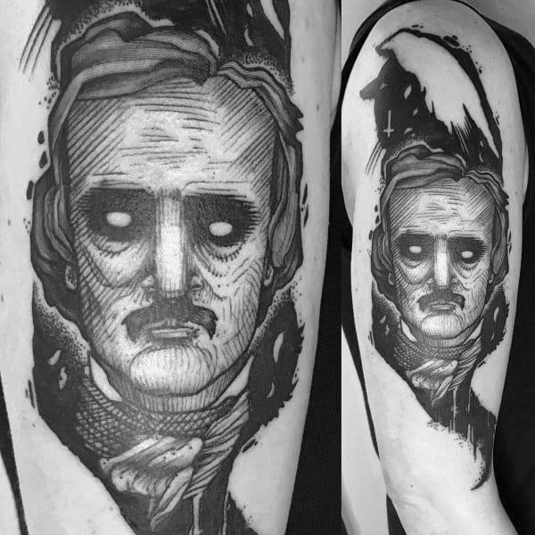 Edgar Allan Poe Tattoo Designs For Gentlemen