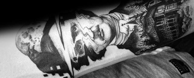 Edgar Allan Poe Tattoo Designs For Men