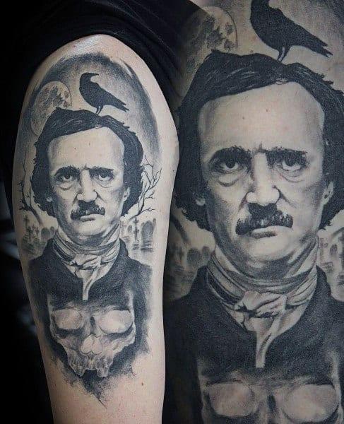 Edgar Allan Poe Tattoo Designs On Men