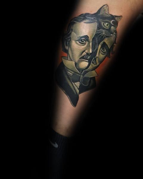 Edgar Allan Poe Tattoo For Guys