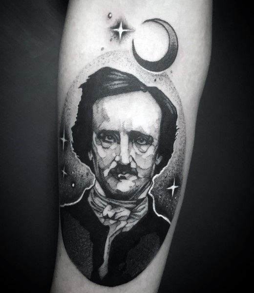 Edgar Allan Poe Tattoo Ideas For Men