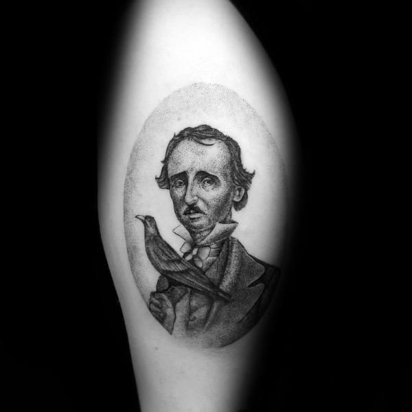 Edgar Allan Poe Tattoo Inspiration For Men