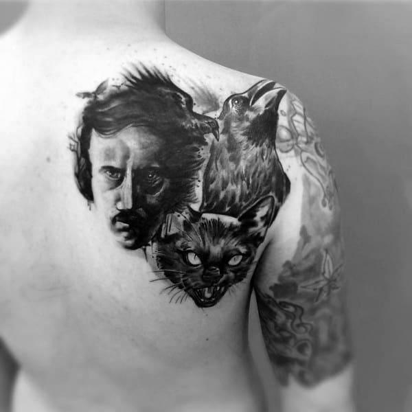 Edgar Allan Poe Tattoos For Gentlemen