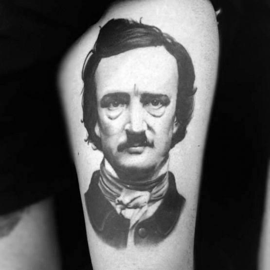 Edgar Allan Poe Themed Tattoo Design Inspiration