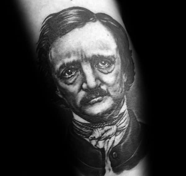 Edgar Allan Poe Themed Tattoo Ideas