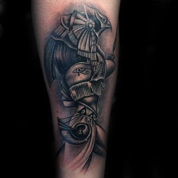 Egyptian Eye Of Horus Male Forearm Tattoos