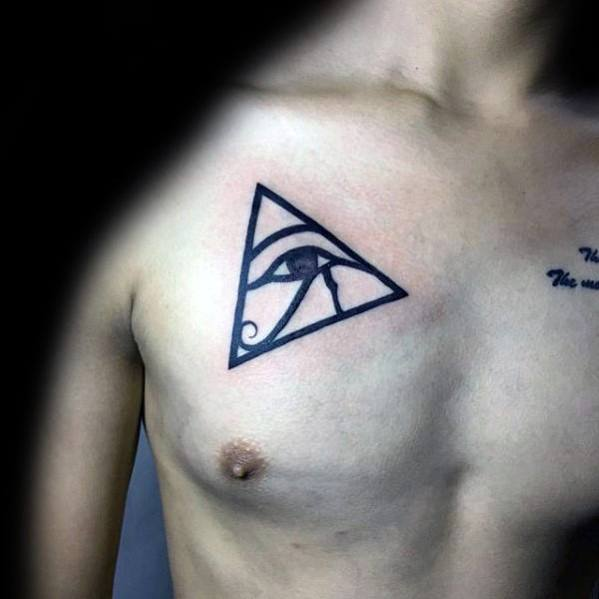 50 Simple Chest Tattoos For Men- Manly Upper Body Design Ideas