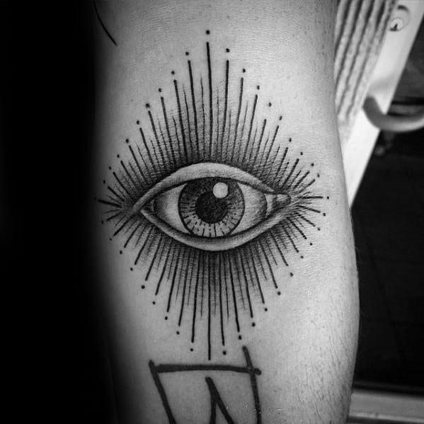 Elbow Crease Ditch Detailed Eye Guys Tattoo Ideas