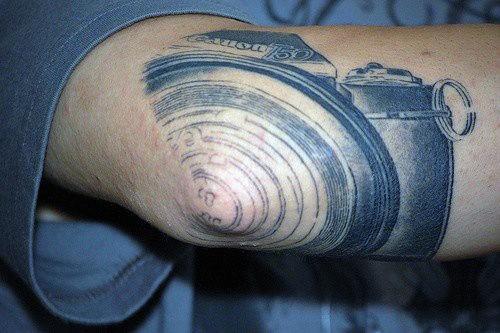 Elbow Tattoo Camera For Men
