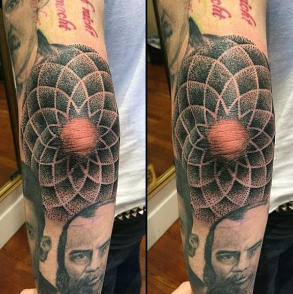 Elbow Tattoo Design On Males