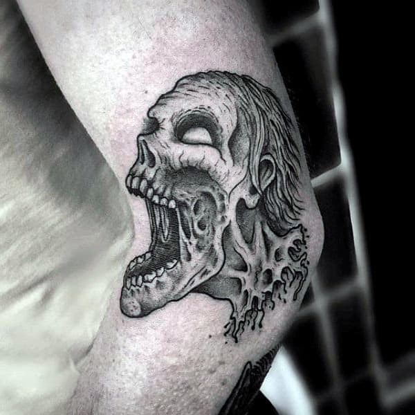 Zombie Skull Tattoo Designs