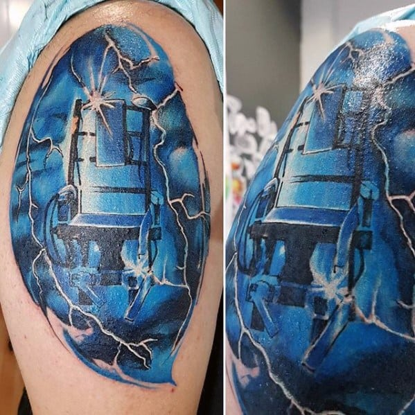 Electric Chair Arm Guys Metallica Tattoo Design Idea Inspiration