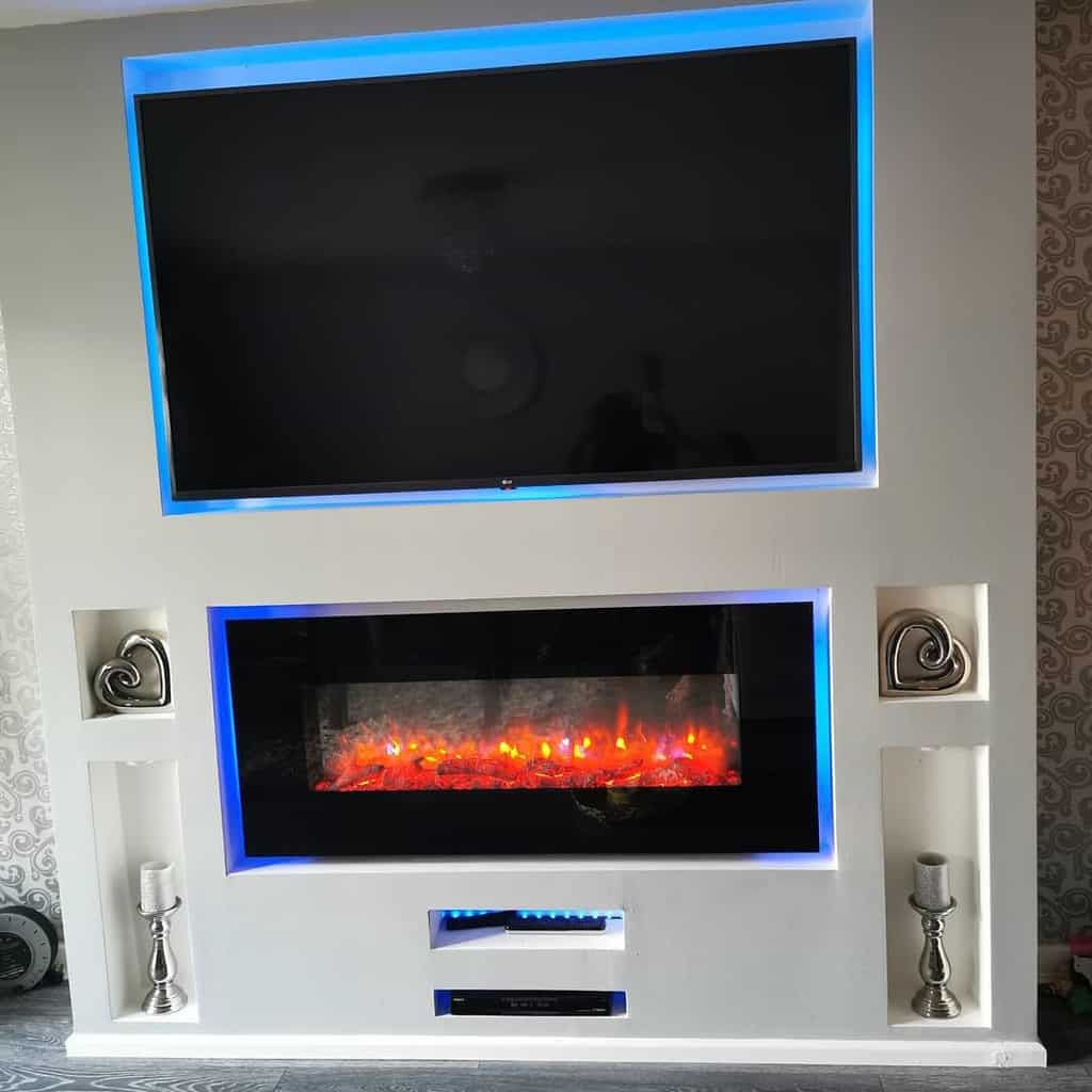 electric fireplace wall ideas homeofsparkleandgrey