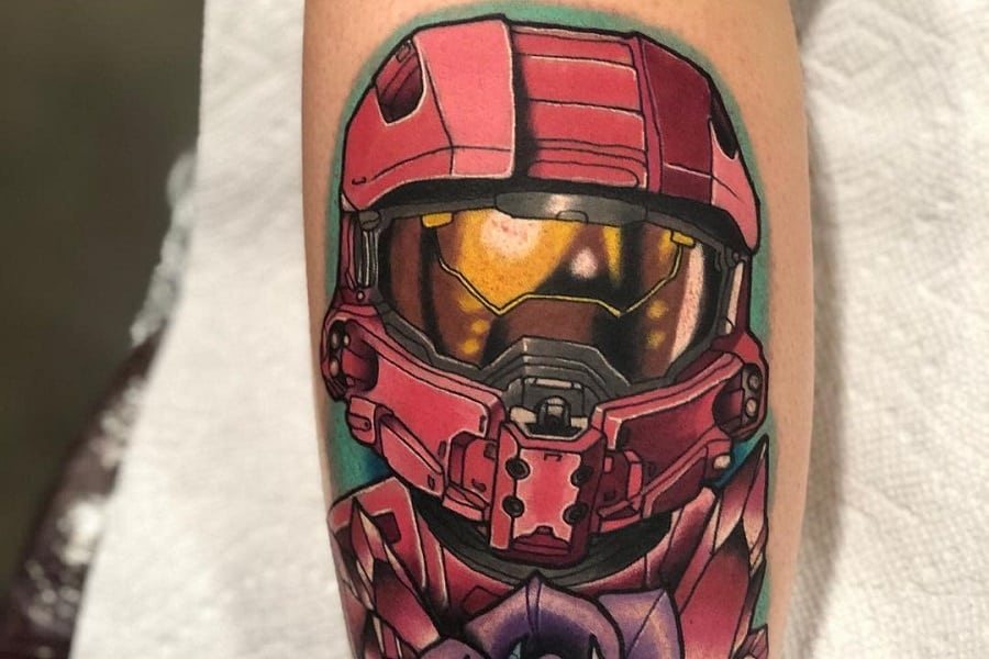 Electrum Master Chief Halo Tattoo Jamesmullintattoos Fi