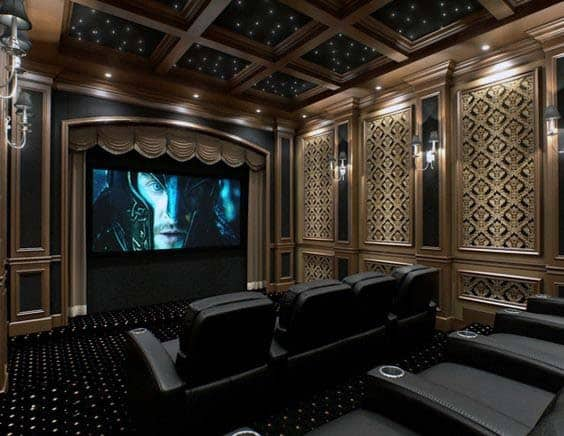 Wonderful Elegant Classic Home Theater Decor Ideas