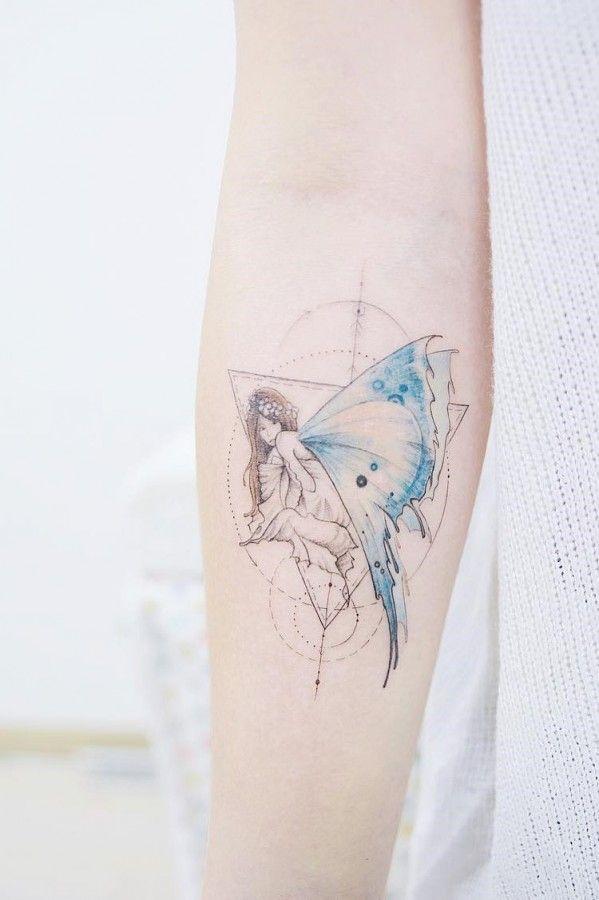 Elegant Cute Fairy Tattoo