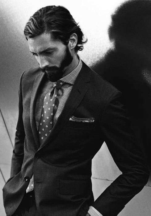 Elegant Flow Hairstyle Mens