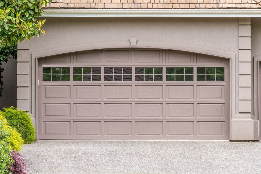 Exterior Garage Door Rustic Cabin Look Design
