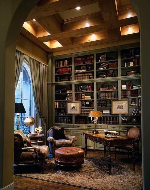 Home Library Design: 90 Home Library Ideas For Men